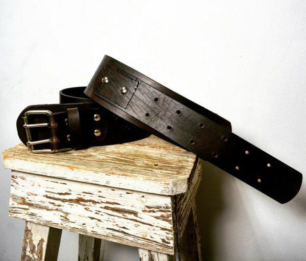 VHO Black Leather Belt