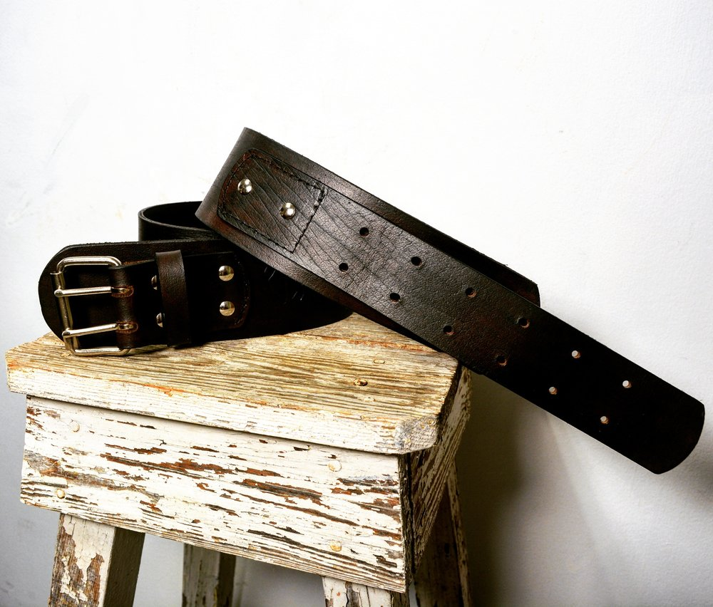 VHO Black Leather Belt