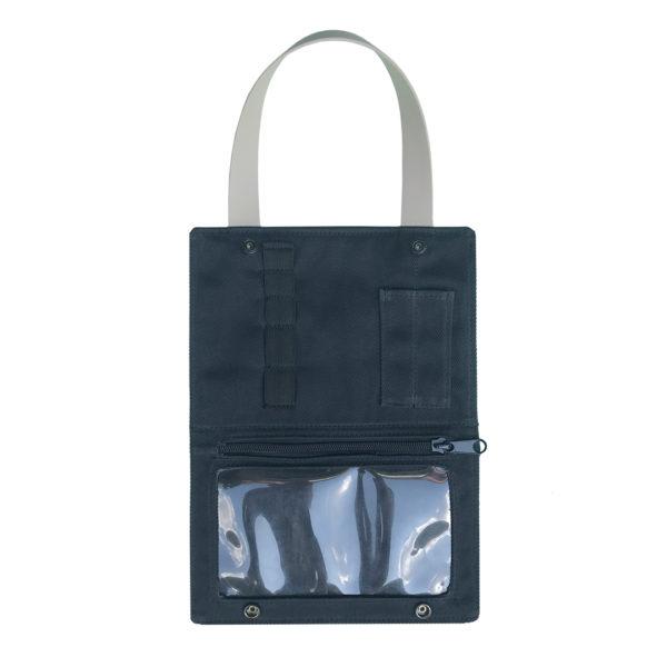 black canvas beauty bag