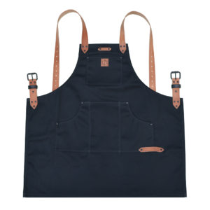 black waxed canvas apron
