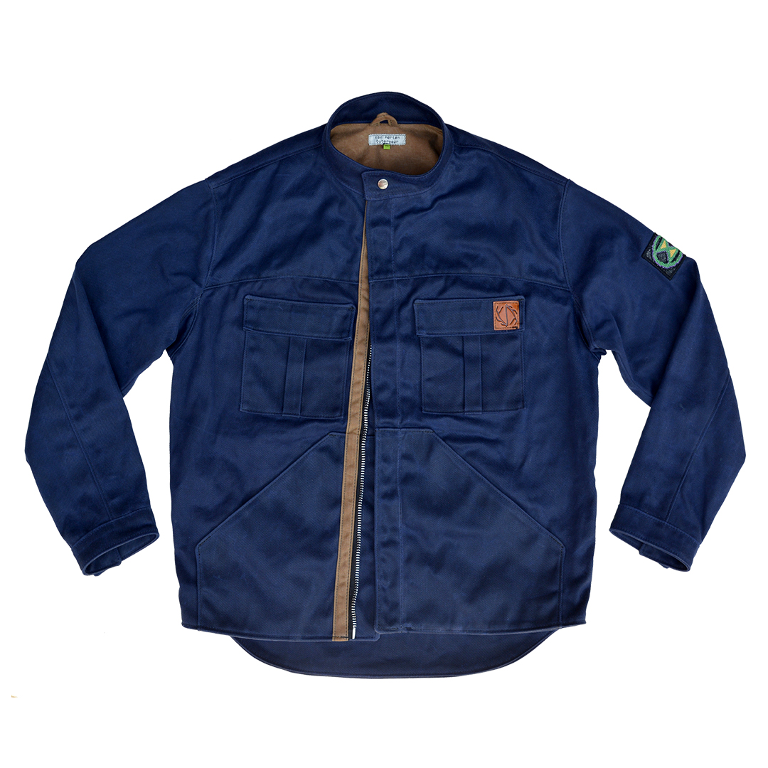 Navy Waxed Canvas Jacket